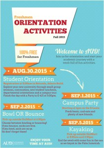 Orientation Activities Poster Fall 2015 - outlines